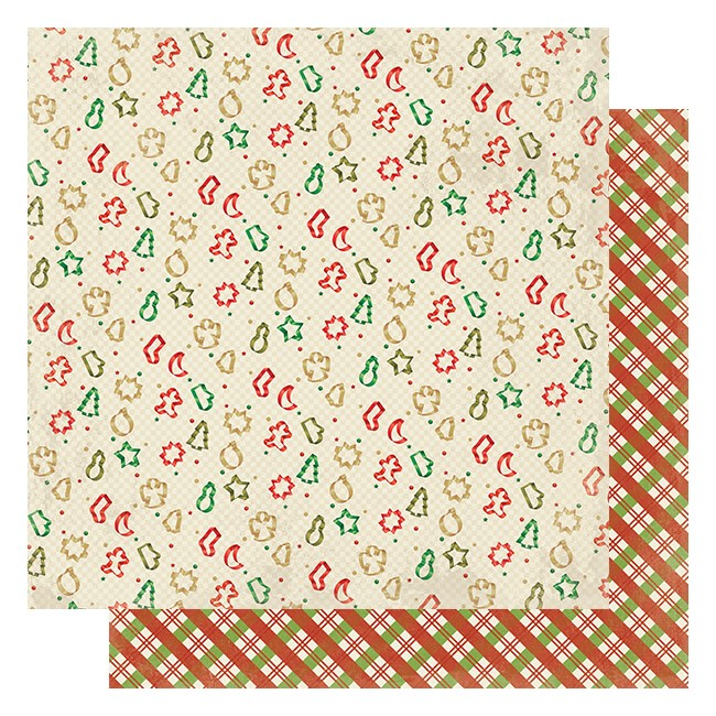 Papel Estampado Doble Cara 12x12 Rejoice #13 Cookie Cutters