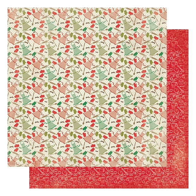 Papel Estampado Doble Cara 12x12 Rejoice #16 Kitchen Baking Tools