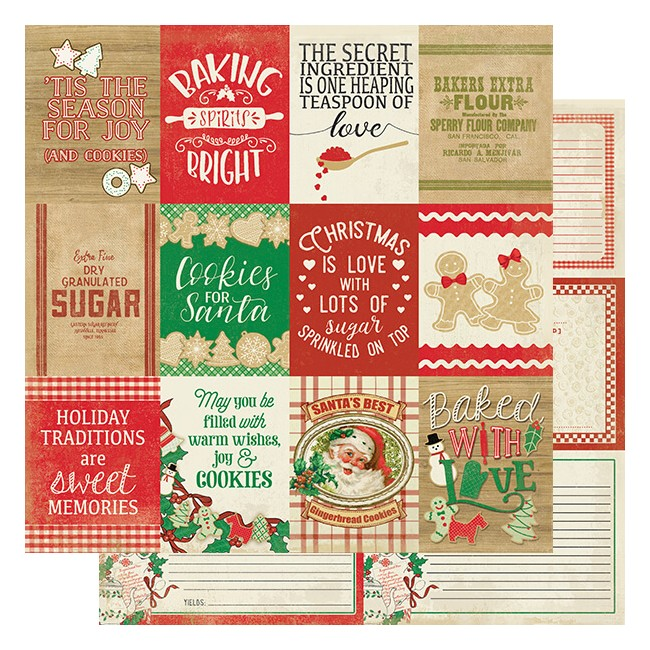 Papel Estampado Doble Cara 12x12 Rejoice #20 Baking Sentiments Cut-Aparts