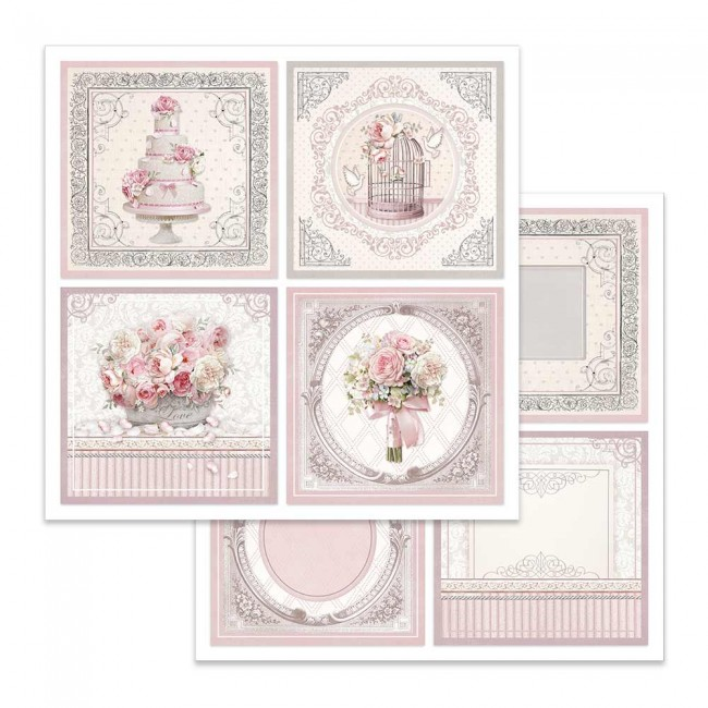 Papel Estampado Doble Cara 12x12 Wedding Cards