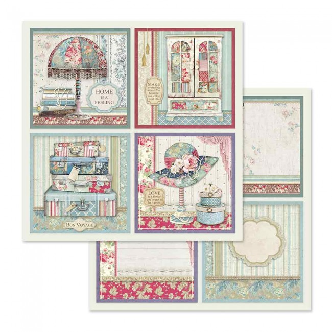 Papel Estampado Doble Cara 12x12 Grand Hotel 4 Frame Decorations