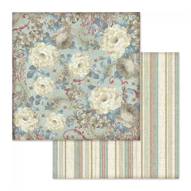 Papel Estampado Doble Cara 12x12 Grand Hotel Flower Wallpaper