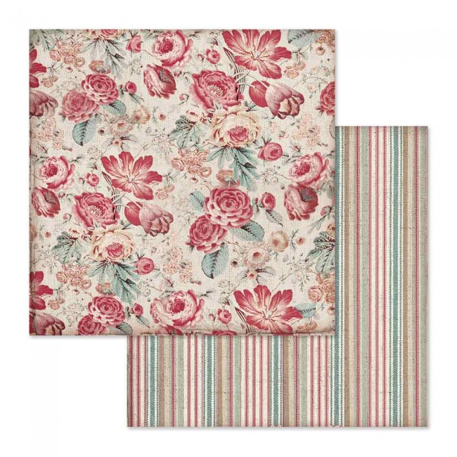 Papel Estampado Doble Cara 12x12 Grand Hotel Wallpaper With Roses