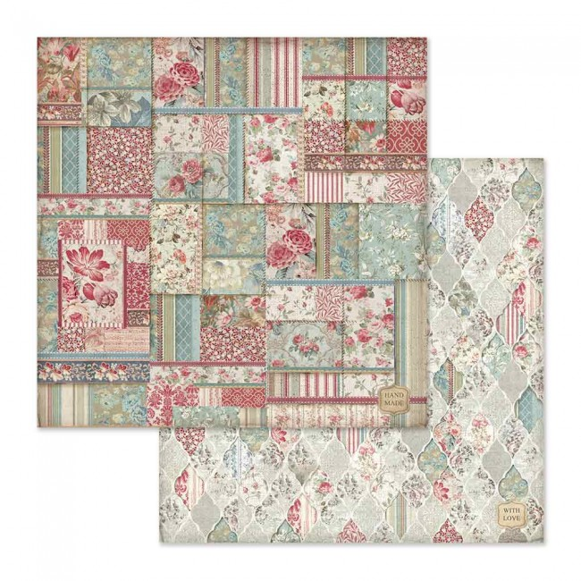 Papel Estampado Doble Cara 12x12 Grand Hotel Wallpaper With Patchwork
