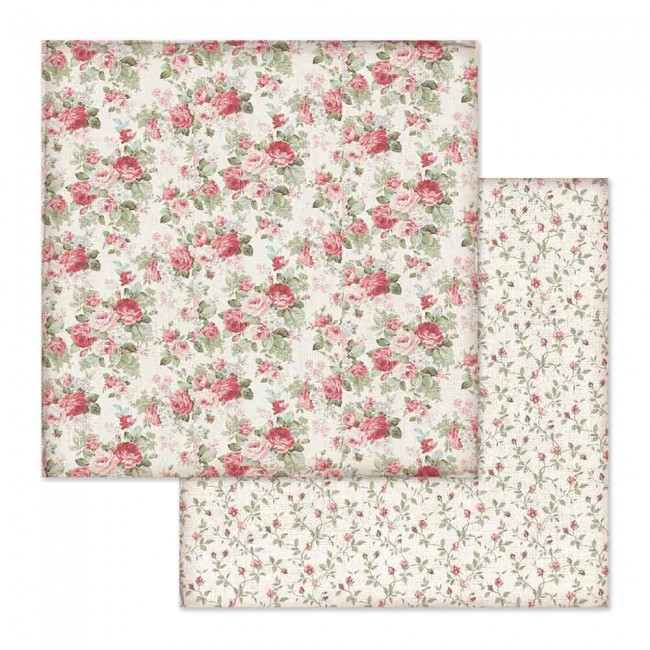 Papel Estampado Doble Cara 12x12 Grand Hotel Rose Buds