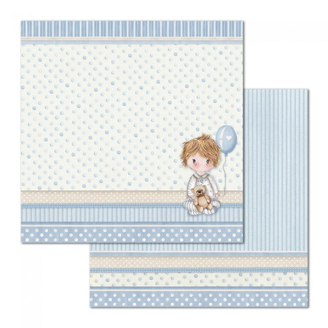 Papel Estampado Doble Cara 12x12 Little Boy Baloon