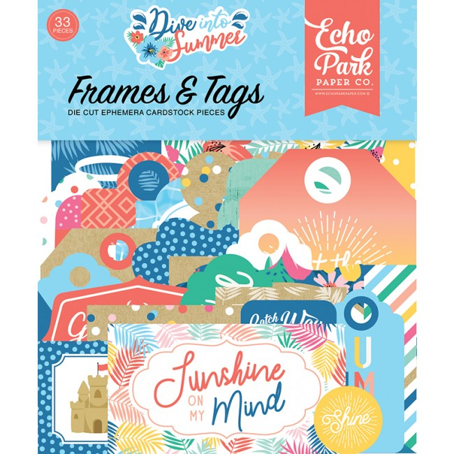 Die Cuts Dive Into Summer Frames & Tags