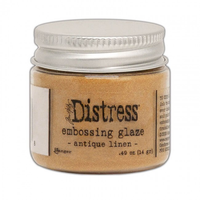 Polvos de Embossing Distress Glaze Antique Linen