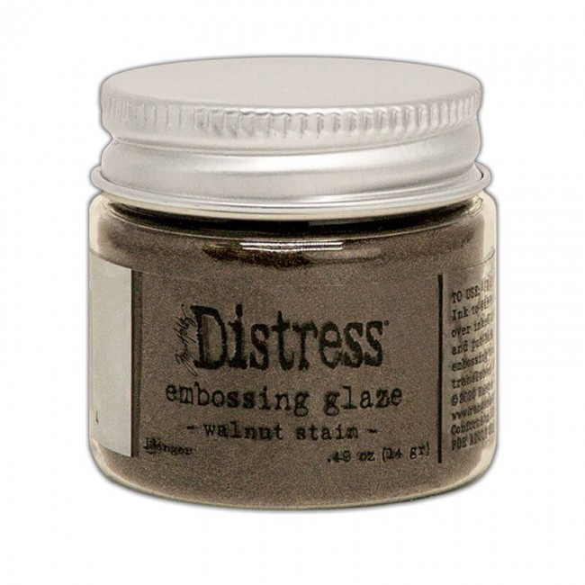 Polvos de Embossing Distress Glaze Walnut Stain