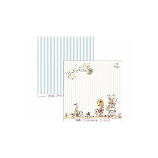 Papel Estampado Doble Cara 12x12 - Niño - 009