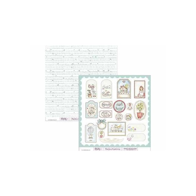 Papel Estampado Doble Cara 12x12 - Cuentos - 036
