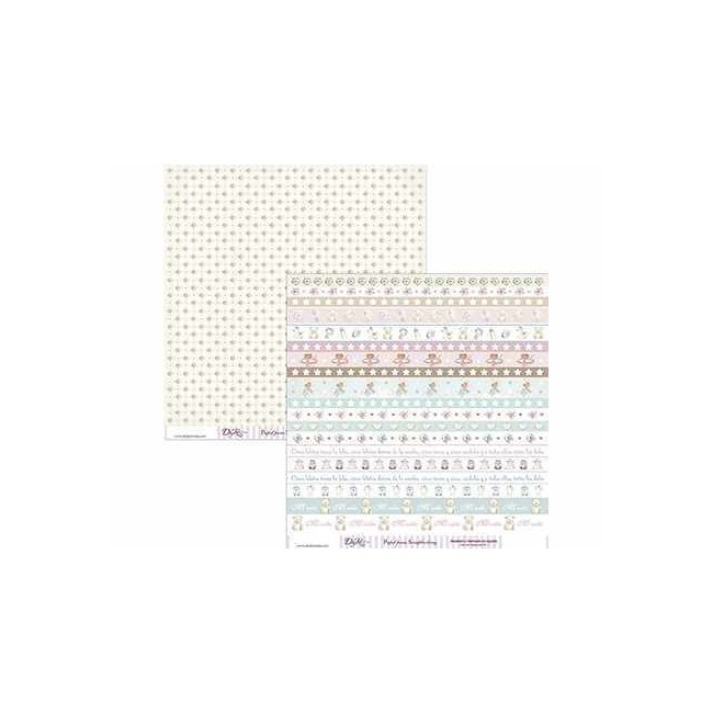Papel Estampado Doble Cara 12x12 - Niña - 042