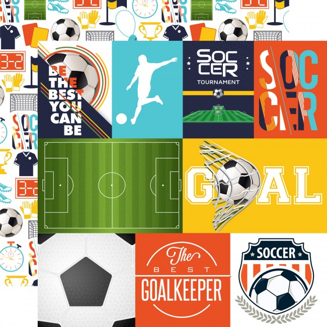 Papel Estampado Doble Cara 12x12 - Soccer - Journa
