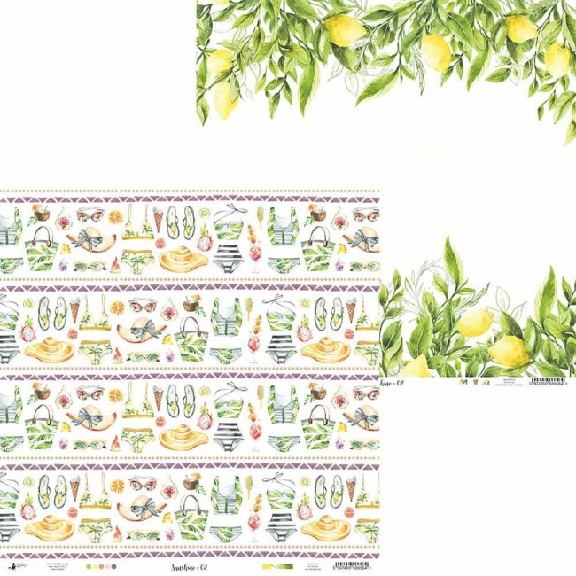 Papel Estampado Doble Cara 12x12 Sunshine 02