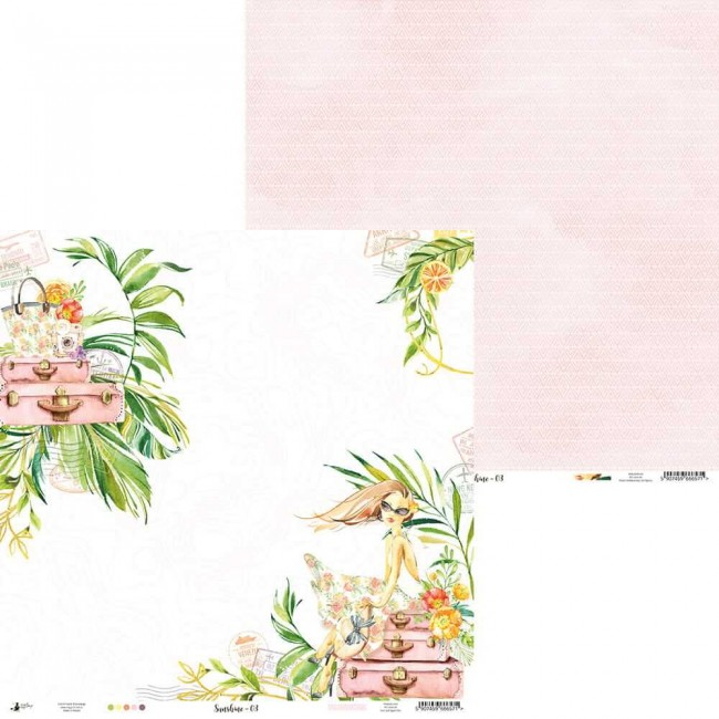 Papel Estampado Doble Cara 12x12 Sunshine 03