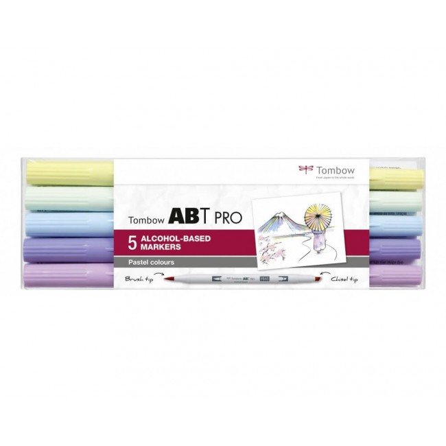 Set 5 Rotuladores Tombow ABT Pro Alcohol Colores Pastel