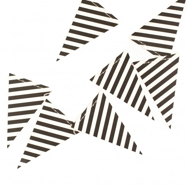 Black & White Striped Banner