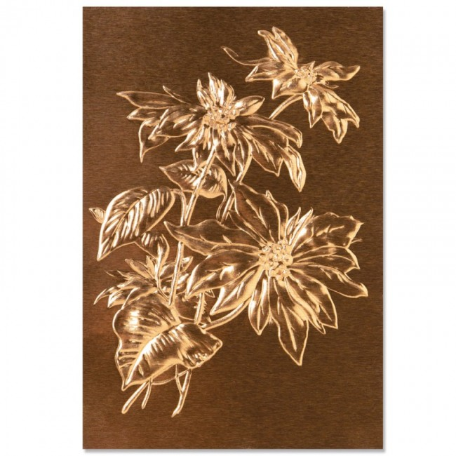 Carpeta de Embossing 3D Poinsettia by Tim Holtz