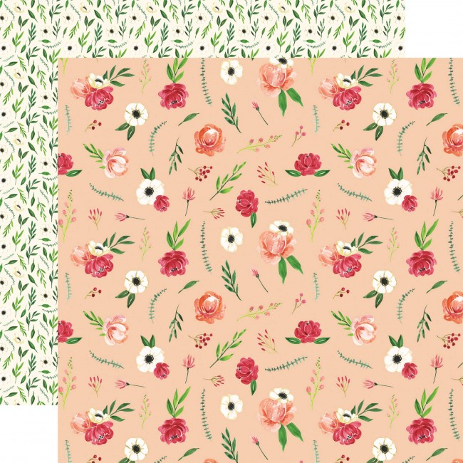 Papel Estampado Doble Cara 12x12 Botanical Garden Poppy Bundle