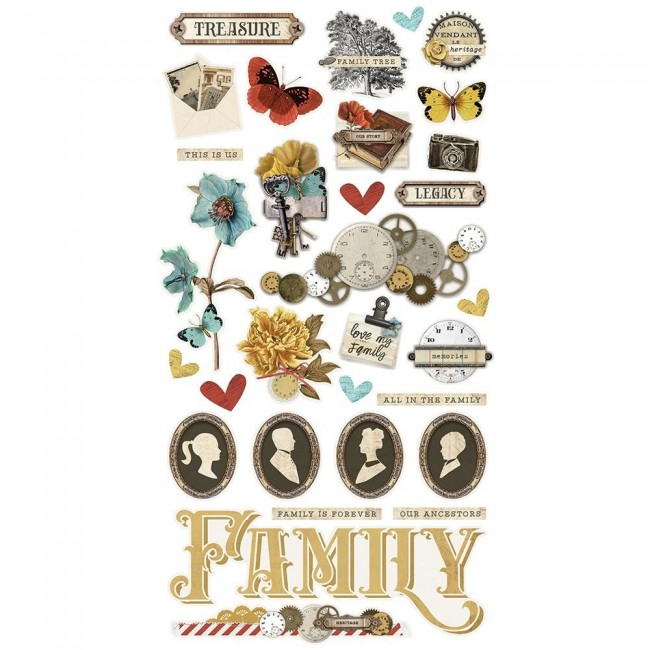 Chipboard 6x12 Simple Vintage Ancestry
