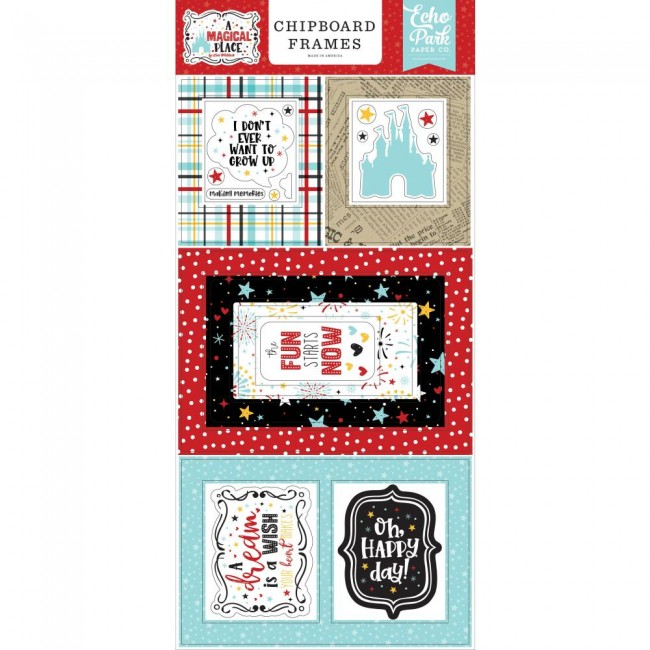 Chipboard 6x13 A Magical Place Frames
