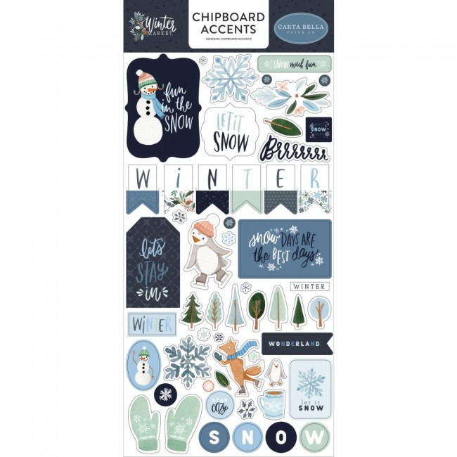 Chipboard 6x13 Winter Market Accents