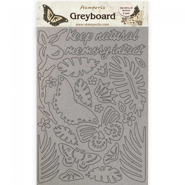Chipboard A4 Amazonia by Cristina Radovan Butterflies