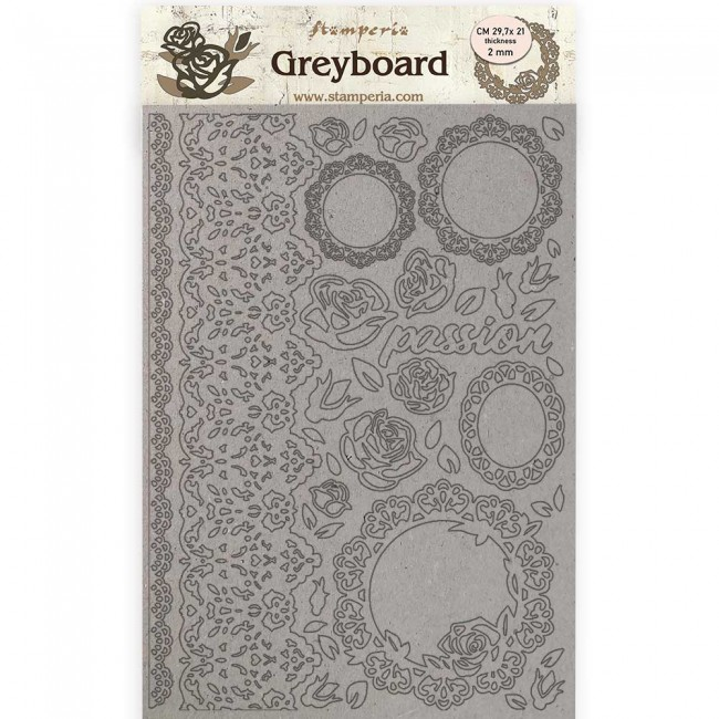 Chipboard A4 Passion Lace and Roses