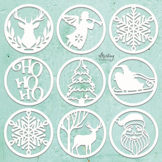 Chipboard Chippies Christmas Circles