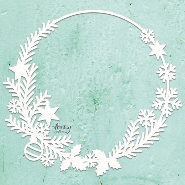Chipboard Chippies Christmas Wreath