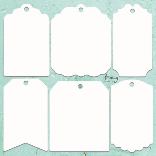 Chipboard Chippies Tags