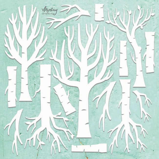 Chipboard Chippies Trees