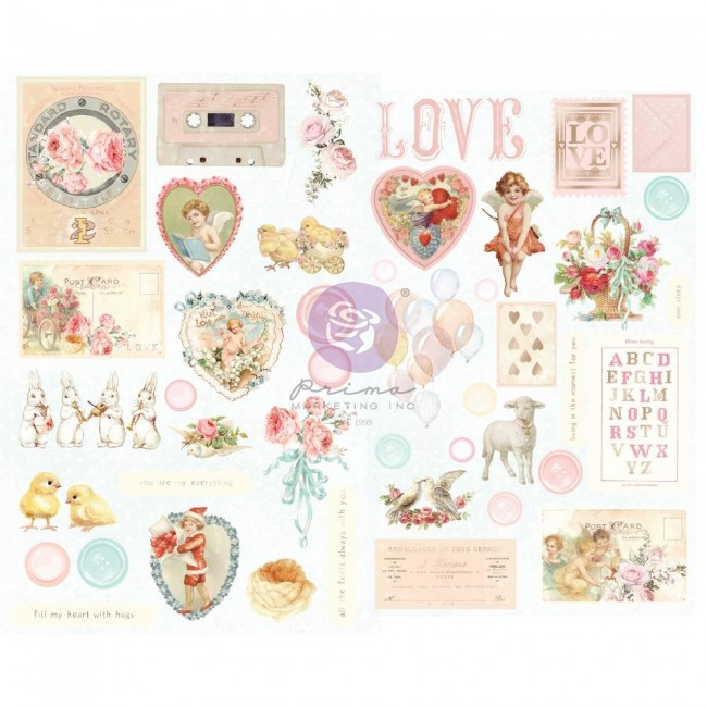 Chipboard Magic Love By Frank Garcia Shapes Foil Accents