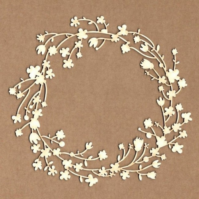 Chipboard Marco Corona Floral