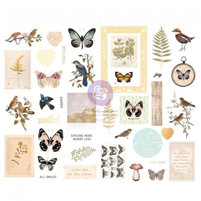 Chipboard Nature Lover Shapes Foil Accents