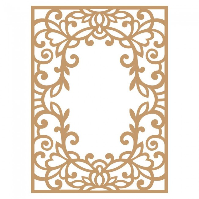 Chipboard Vine Frame