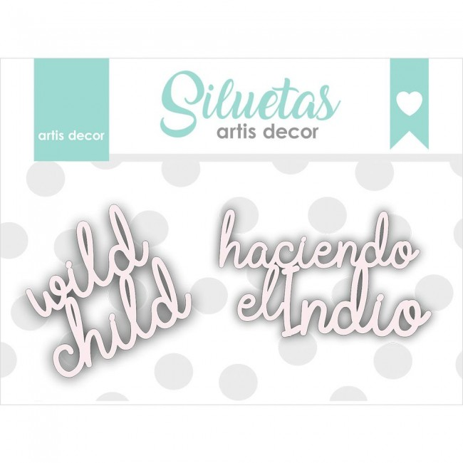 Chipboard Wild Child Haciendo el indio