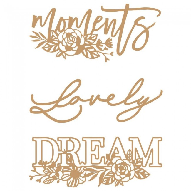 Chipboard Words To Live By 2