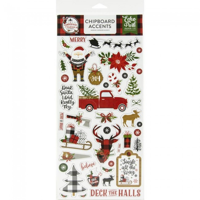 Chipboard 6x13 A Lumberjack Christmas Accents