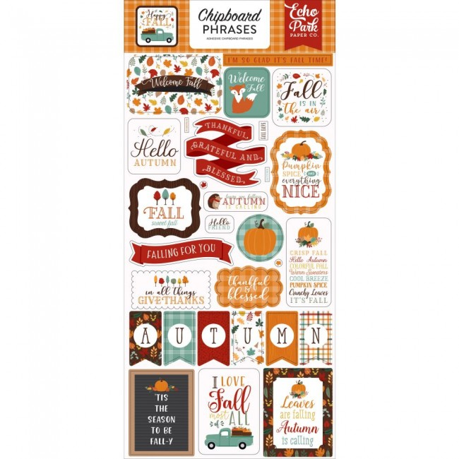 Chipboard 6x13 Happy Fall Phrases