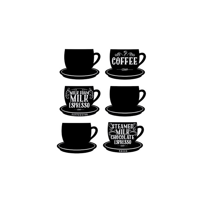 Coffee Cups Wall Decal -30% DESCUENTO