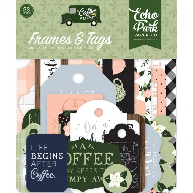 Die Cuts Coffee and Friends Frames & Tags
