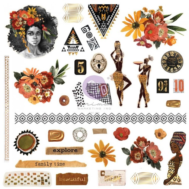 Die Cuts Diamond Shapes Tags Words Foiled Accents