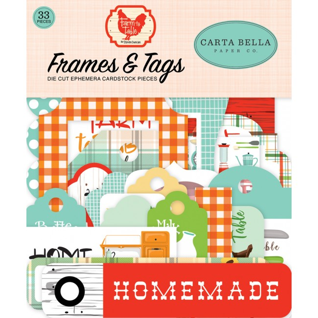 Die Cuts Farm to Table frames & tags