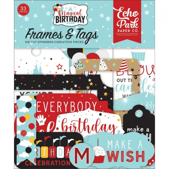 Die Cuts Magical Birthday Boy Frames & Tags
