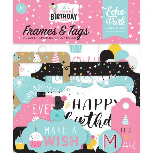 Die Cuts Magical Birthday Girl Frames & Tags