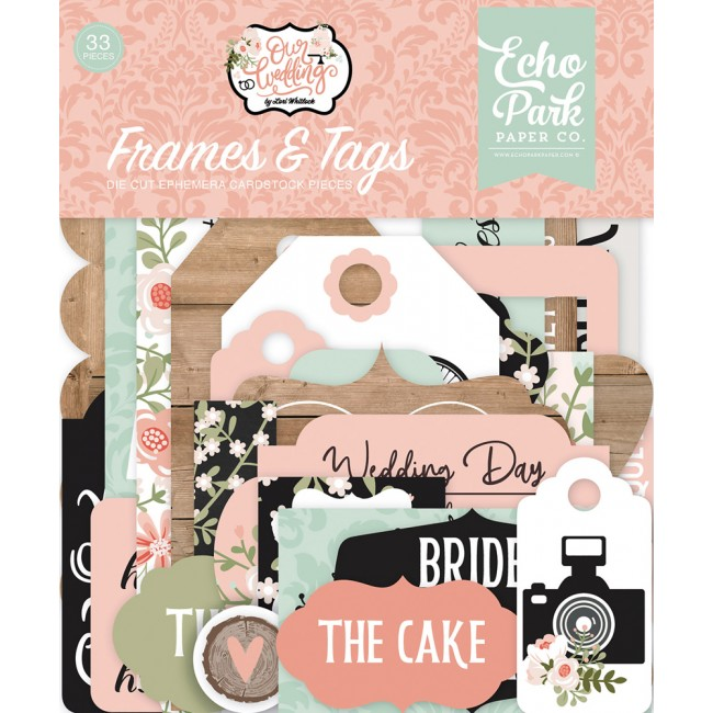 Die Cuts Our Wedding frames & tags