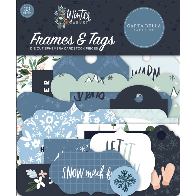 Die Cuts Winter Market frames & tags
