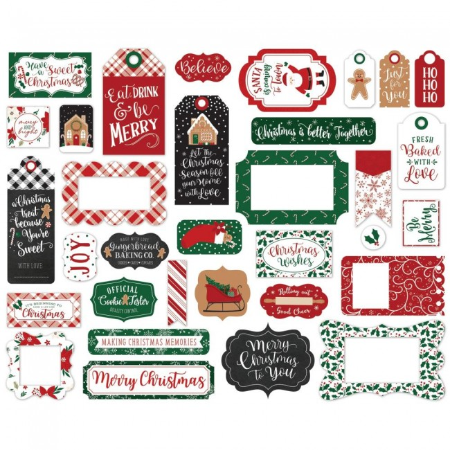 Die Cuts A Gingerbread Christmas Frames & Tags