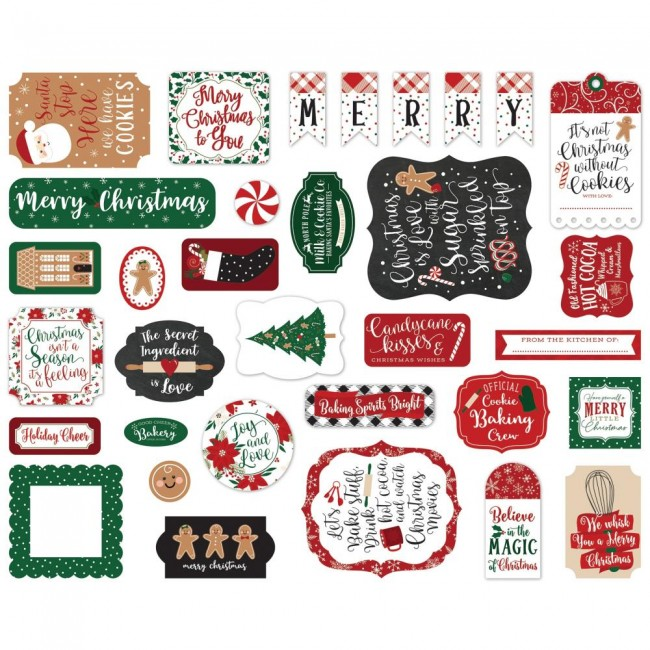 Die Cuts A Gingerbread Christmas Icons